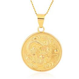 счастливое ожерелье для мужчин Скидка Domineering мужской китайский благоприятный кулон дракона / ожерелье ювелирные изделия талисман украшения счастливые подарки 4 шт. / Лот
