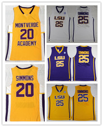 1be2ed9729fc 2019 jerseys púrpuras del baloncesto NCAA LSU Tigers College Ben Simmons  Jersey Escuela Secundaria Montverde Academy. 20