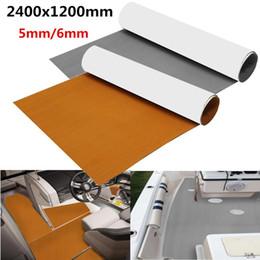 Bodenbelag online-1roll gtar / Brown 2400x1200x6mm Self Adhesive EVA-Schaum Brown Boot Flooring Faux Teak Decking-Blatt-Auflage Boden Dekor Anti Slip