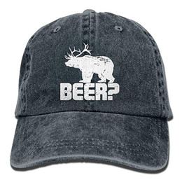 8d1949355ed 2019 New Custom Baseball Caps Print Hat High Mens Cotton Washed Twill  Baseball Cap Beer Bear Deer Hat