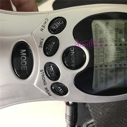 Almofadas de eletrodo para massager on-line-EU TAXA LIVRE Terapia Digital Máquina Eletrônica Acupuntura Massageador mini Corpo massageador Emagrecedor com 4 Almofadas de Eletrodo