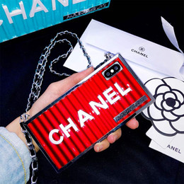s new phone Coupons - One Piece Fashion Brand Container Square New Designer Phone Cases for Iphone XR XS MAX X 6 S 7 8 plus Back Cover for gifts