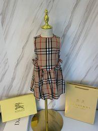 Patrones de vestido de niña online-Ropa infantil para niños Vestido de verano Manga corta Nuevo patrón para niños juegos Niña diseñador de trajes de lujo Twinset ropa para niños ropa 0606