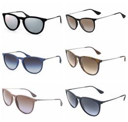 New Vintage óculos de sol Erika cat eye marca RAY bandas de óculos de sol Gafas de sol BEN homens mulheres BANS espelho lentes de vidro com caso online de Fornecedores de óculos de sol verde seta