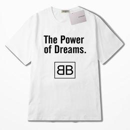 Coroa preta camiseta on-line-Mens Designer de Verão T Shirt Das Mulheres Dos Homens Da Marca Tees Camisas Coroa Preta Padrão de Impressão Anti-encolhimento T Camisa Casual Tamanho da Roupa S-2XL