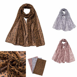 leopard ponchos Promo Codes - Fashion Women Leopard Print Long Soft Wrap Scarf Shawl foulard femme ponchos and capes bufandas invierno mujer 2018 Scarves New