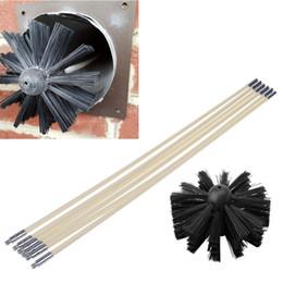 séchoir Promotion Nettoyage en nylon Brosse avec poignée longue cheminée Tuyau de nettoyage Brosse outil de cheminée Chaudière Sèche-tuyau Nettoyage des outils