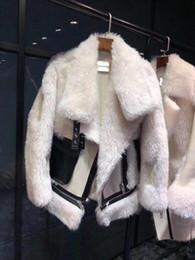 Меховые рукава толстовки онлайн-рукав ветровки Длинные женские Толстовка женщин блейзеров Хип-хоп популярный мех оптом плюс размер новый стиль новый