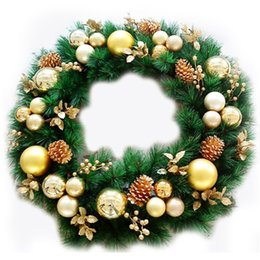 needle plant Promo Codes - Artificial Plant Pine Needles Xmas Tree Garland Wreath Decoration Diy Mixed Branchs Christmas Ornament Supplies