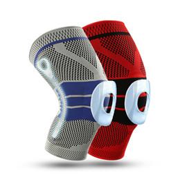 equipo de apoyo de baloncesto Rebajas DHL libre Brace Brace Silicone Knee Pad Basketball Knit Compression Manga de la rodilla Apoyo Deportes con seguridad Transpirable Calcetín Protector Gear M419F