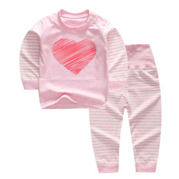 Spring Autumn Toddler Cartoon Underwear Baby Pajamas Children Clothing Set  Boys Girls Outfits Top Pants Suit Baby Clothes Set 6fe96b9a6