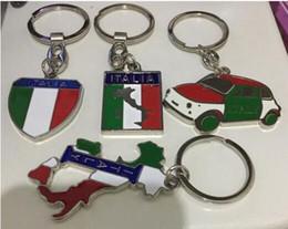 2019 volkswagen key fobs 10 teile / los Auto Styling Keychain Italien flagge Italienisches territorium Königreich karte taxi Keyring Keyhold Reise stil souvenir metall keychain