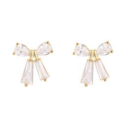 Coréen Girls'First Love papillon noeud oreille clous doux et simples Baitao petites boucles d'oreilles fraîches en zircon E651 ? partir de fabricateur
