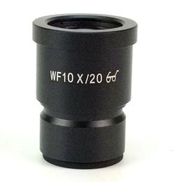 2019 md plastico Ocular para microscopio monocular Estudiantes Biológica WF10X Ampliación de la lente del microscopio de campo grande