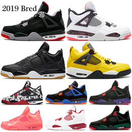 huge selection of 7aa00 5c92a 2019 gezüchtet 4 Basketball-Schuhe 4s Pale Citron Pizzeria Lightning  Singles Tag Tattoo LASER Hot Punch Oreo Herren Sport Turnschuhe 7-13 rabatt  oreo schuhe
