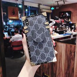 2019 couverture de cellule mignon Etui de téléphone en cuir robuste pour iPhone XS Max / XR 8/7/6 Plus avec béquille pour femmes filles couverture de cellule mignon pas cher
