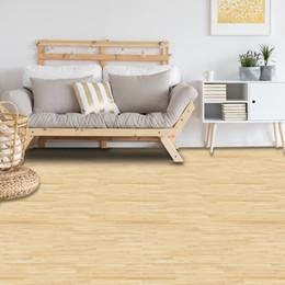 2019 adhésif de sol en vinyle Autocollant de plancher auto-adhésif en grain de bois jaune, papier peint en vinyle Home Decor PVC, papier de contact étanche pour la cuisine de salle de bains promotion adhésif de sol en vinyle