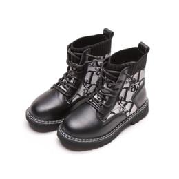 2019 yeni Sonbahar Kış çocuk ayakkabıları çocuk Martin botları Moda erkek ayakkabı kızlar ayakkabı erkek Martin botları kız bot çocuk ayakkabı satış A8723 nereden siyah diz yüksek topuklu ayakkabı tedarikçiler