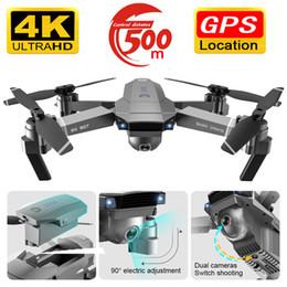 Drones gps online-Drone SG907 GPS Dron cámara HD 1080P 4k 5G WIFI de doble cámara antivibración zánganos electrónicos carácter seguimiento QuadCopter con cámara T191016