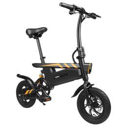 12-дюймовый велосипед онлайн-12-дюймовый T18 портативный складной умный электрический велосипед мопеда 250 Вт мотор 25 км / ч 12 дюймов шины