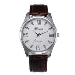pulsera de cuero Rebajas Moda Nuevos Hombres Reloj Correa de Cuero Relojes de Acero Inoxidable Cuarzo Vintage Reloj de Estilo de Negocios Vestido de Regalo Vestido 4a