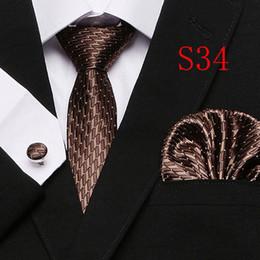 Polka Dots Style Series Corbata de seda Conjunto Corbata al por mayor Hanky Gemelos Clásico Jacquard de seda tejido para hombre Conjunto de corbata 7.5 cm Ancho Negocio T12-33 desde fabricantes