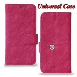 Funda de cuero tamaño universal para el teléfono de Kickstand para iPhone XI Max XIR XS 7 Samsung Note 10 Pro 6 5.3 5 pulgadas desde fabricantes