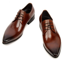 Migliori scarpe in pelle maschile online-Downton Handmade Genuine Groom Shoes Shoes Bowhide Best Men Shoes Slip on Oxfords Scarpe da lavoro Scarpe da lavoro Italiano Stile maschile