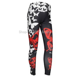 butterfly print leggings Promo Codes - S-L Sexy Butterfly Print Leggings Women High waist Push Up leggings Sporting and Fitness Leggins Mujer