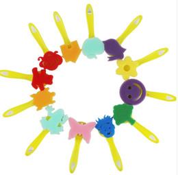 12 Pièce Costume Enfants Peinture Éponge Brosse Maternelle Graffiti DIY Poignée Jaune Art Classe Peinture Fournitures Cadeau 6pc A1 ? partir de fabricateur