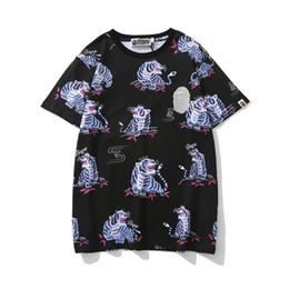 Новые летние мужские животные тигр с рисунком принт хлопок футболки больших размеров мужчины женщины с короткими рукавами хип-хоп футболки от