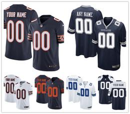 Magliette personalizzate da uomo da donna chicago Dallas Jersey Qualunque sia il tuo nome e il tuo numero Bambini Ragazze Bears Cowboys Football Jerseys da
