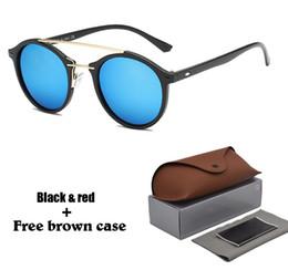 2019 óculos de sol de lente completa Marca de alta Qualidade Designer de Rodada Óculos De Sol para Homens Mulheres Esportes Sol Vidro lente uv400 Gafas de sol com Varejo Completa Acessórios óculos de sol de lente completa barato
