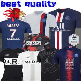 Wholesale 19 calze da calcio per uomo MBAPPE CAVANI PSG X AJ maglia da allenamento per allenamento Ander Herre Camiseta de futbol Notre Dame