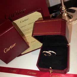 Reifenringe online-C Home Frankreich 19ss Hoop Diamond Damenhochzeitsringe Atemberaubender Diamantring Damen Diamantringe Keine Box