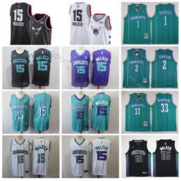 Men Charlotte Basketball Hornets Jerseys Kemba 15 Walker Buzz City Edition  Tyrone Muggsy 1 Bogues Larry 2 Johnson Alonzo 33 Mourning Green 289d731ba