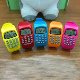 Argentina Calculadora digital de moda con función de reloj LED Deportes de silicona casual para niños Niños Cálculo multifuncional cheap digital led sports watch Suministro