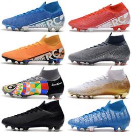 2019 botas de coco Botas de futebol de topo de Mens Sob O Radar Mercurial Superfly VII 360 Elite FG Soccer Shoes Neymar ACC Superfly 7 Chuteiras De Futebol Ao Ar Livre