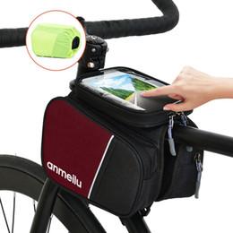 Lixada Bike Top Tube Bag Велоспорт Передняя рамка Сумка Велосипедная сумка для телефона Велосипедная рамка Сумка с сенсорным экраном 6IN Чехол для телефона с водонепроницаемым чехлом от дождя от