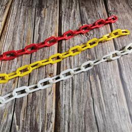 loros de plastico Rebajas Simple Bird Diy Chains Toy Plastic Plastic Solid Colors Pet Parrot Chew Toys 42cm Length Parrots Mordiendo Suministros 1 5hz E1