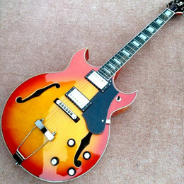 2019 schiff benutzerdefinierte hohlkörper gitarren Custom 1969 Cherry Sunburst Hohlkörper Jazz E-Gitarre KOSTENLOSER VERSAND rabatt schiff benutzerdefinierte hohlkörper gitarren