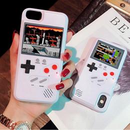 Игровые стенды онлайн-Полноцветный дисплей классический игровой телефон чехол для iPhone Xs Max Xr X ТПУ стенд XS Max игровой чехол для iPhone 6 7 8 Plus Xs Max Xr.