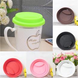 Coperchio della tazza di colore solido in silicone Eco amichevole Food Grade Silicone Cup Kitchen Cap Accessori per bicchieri da