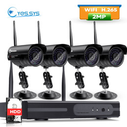 2019 ip hdd Eyessys Wifi 4CH 1080P Беспроводная сеть NVR 4PCS 1080p 2.0MP IP-камера CCTV P2P Kit IP Камара Система безопасности с 1 / 2TB HDD дешево ip hdd