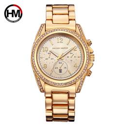 Argentina Señora reloj de cuarzo oro rosa asuntos de negocios Rhinestone reloj de pulsera de cuarzo tira de acero la última moda reloj de pulsera al por mayor Suministro