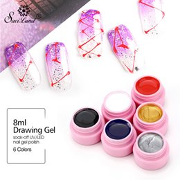 couleur de la peinture aux ongles 3d Promotion Saviland 3D Wire Nail Art Peinture Polonaise Peinture DIY Nail Gel Laque Tirage Peinture Acrylique Couleur UV Tirant Soie Araignée Vernis