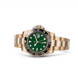 Herren krone uhr online-New Master Ceramic Bezel Herrenuhren Glide Lock Clasp Strap Automatische Blau Schwarz Uhr Sport Crown Watch Armbanduhr Orologio Reloj Montre1