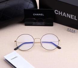 Ornamentali blu online-Designer Occhiali da vista Occhiali da sole Uomo Occhiali da sole da donna Brand C0224 Occhiali miopi Bicchiere anti-blu 5 colori Alta qualità con scatola