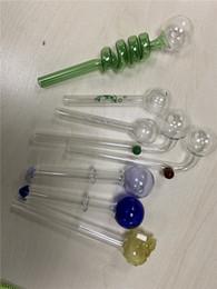 2019 dispositivos de caixa preta Tubulação de vidro Acessórios Fumadores Simples Tubos De Tabaco Mão Pirex Colorido Claro Queimador De Óleo De Vidro Prego Tubo