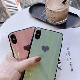 новый телефон в форме яблока Скидка 2019 новые поступления для iphone xr стеклянный корпус лазерное закаленное стекло aurora для iphone x case чехол для телефона в форме сердца
